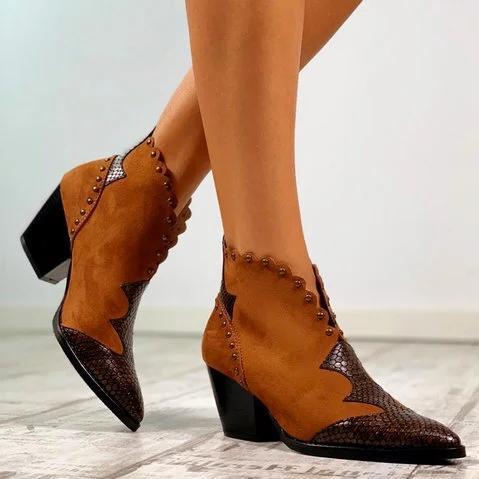 Women Winter Slip-On Pearl Ankle Boots