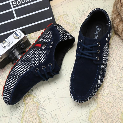 Men's Classic Lace Up Loafers Shoes Breathable Moccasins Shoes