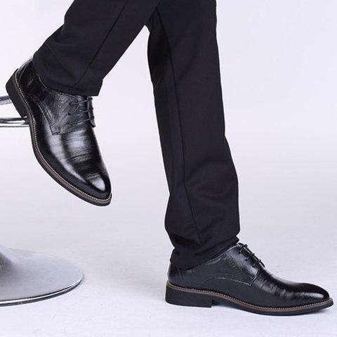 Men Color Match Formal Business Lace Up Shoes