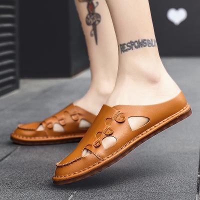 Men's Genuine Leather  Summer Leisure Beach Sandals