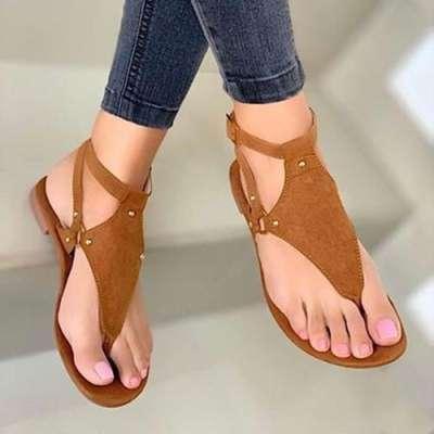 Slip On Flat Heel Sandals