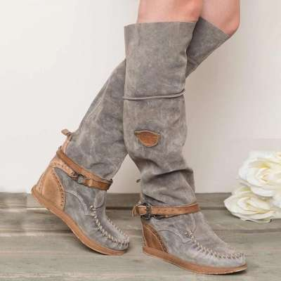 Women Casual Comfy Mid-Calf Boots