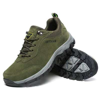 Large Size Men's Suede Wear Resistant Outdoor Hiking Shoes
