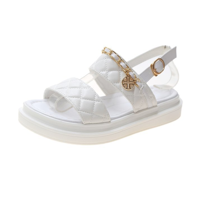 Chain Detail Slingback Sandals