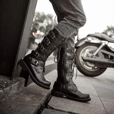 Men's Black British High-Top Military Boots