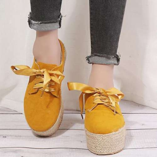 Plain Round Toe Date Travel Flat