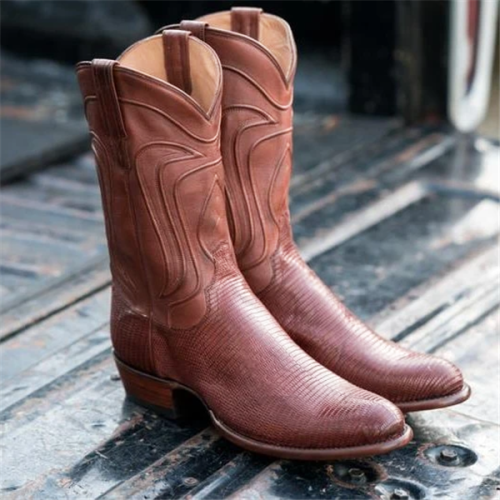 Men's Lizard Skin Cowboy Boots - Exotic Western Boot