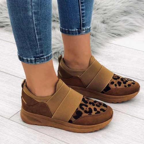 Women's Chic Leopard Flat Sneakers