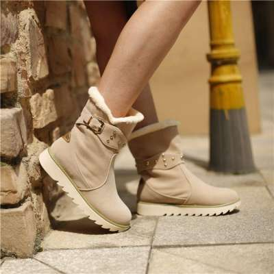 Warm Fur Lining Snow Boots For Women