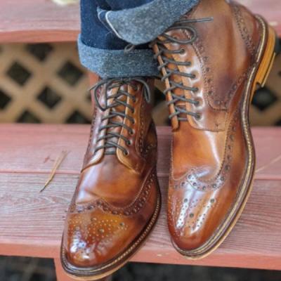 Men's Retro Thick Heel Ankle Boots