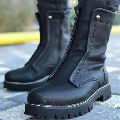 Side Zipper Martin boots