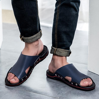 Men's Summer Flat Sandals Casual Beach Flip Flops Shoes Non-slip Slippers