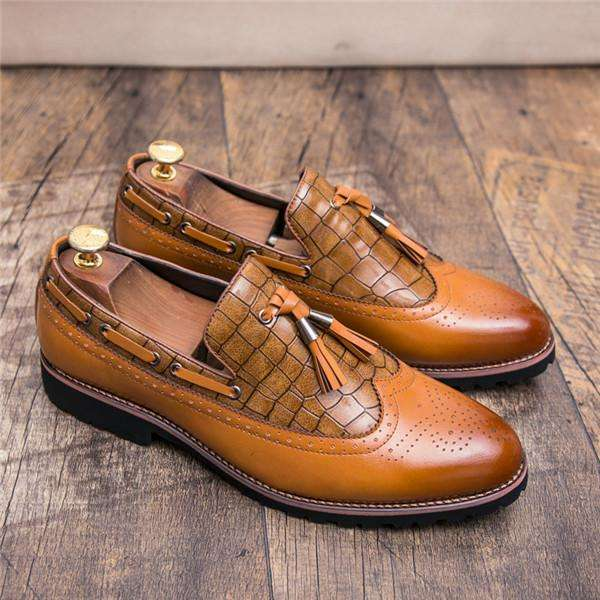 British Style Autumn Men Formal Penny Loafe Slip On Footwear