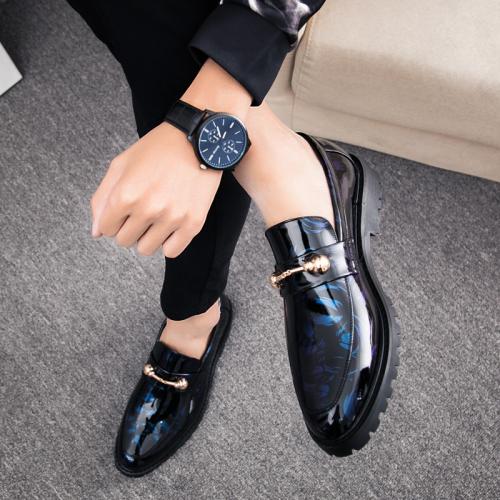 Color Block Low-Cut Upper Closed Toe Men's Prom Shoes