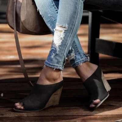 Wedge Peep Toe Sandals