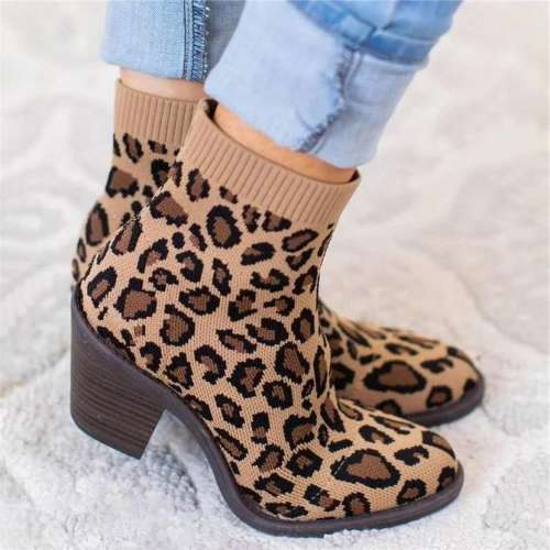 Daily Fall Fly-Woven Fabric Boots