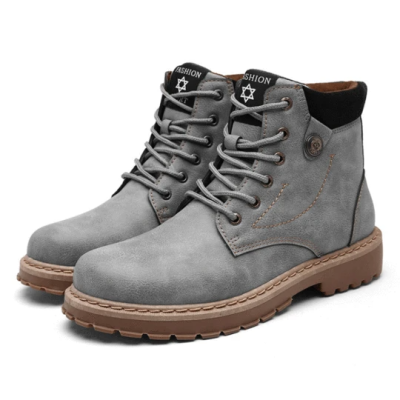 Men's Simple And Handsome High-top Leather Boots