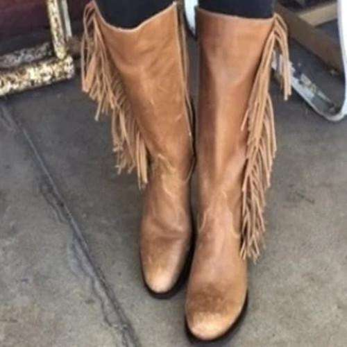 Brown Tassel Boots