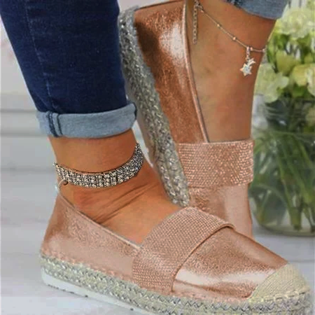 Woman Fashion Solid Color Rhinestone Shoes