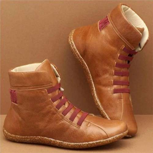 Women Casual Daily High Top Flat Boots