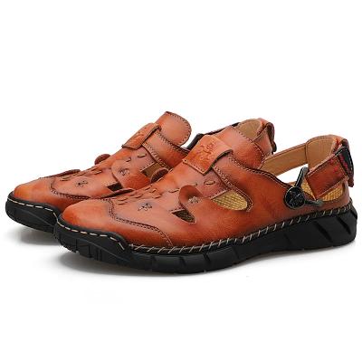 Men's Leather Slip on Sandals