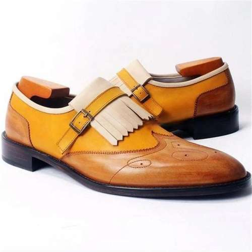 Men Basic Business Buckle Dress Shoes