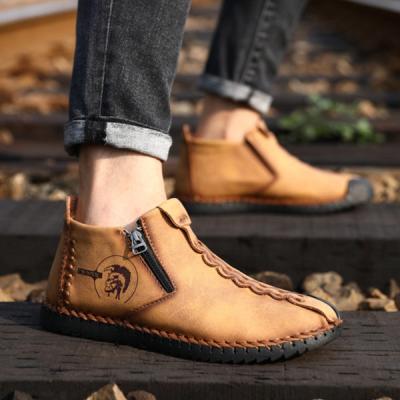 Men's Velvet Short Boots