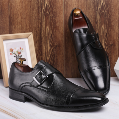 Men's Buckle Leather Shoes Business Leather Shoes