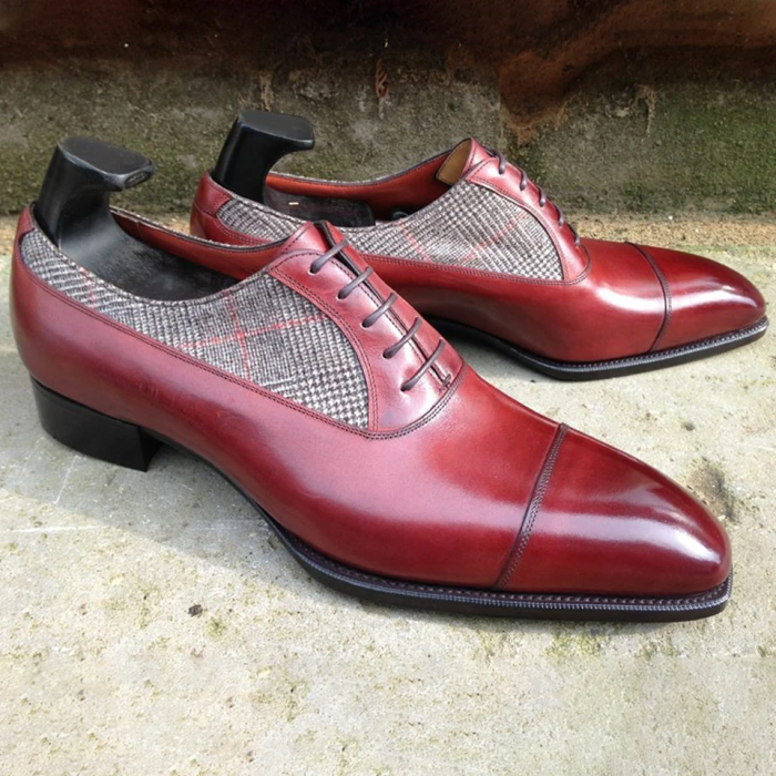 Two Tone Burnished Formal Shoes