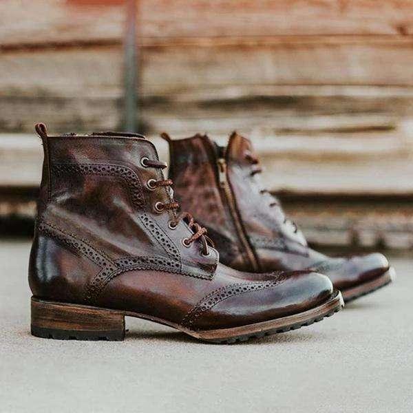 Vintage Plus Size Men's Autumn Winter Boots