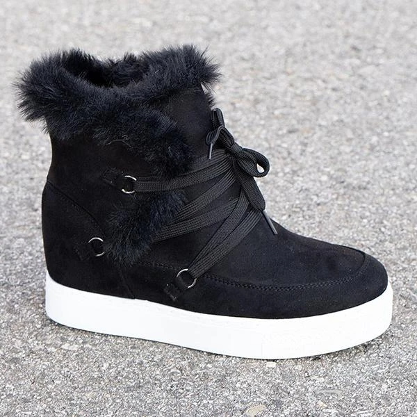Women Winter Wedge Boots