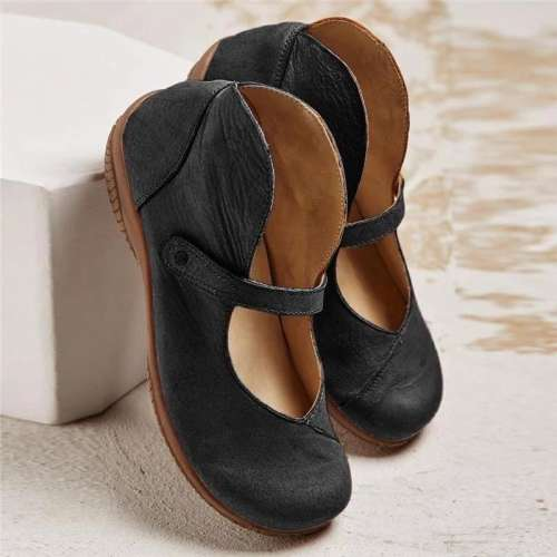 Women Retro Casual Mary Jane Flats