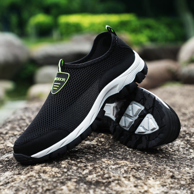 Men Mesh Non Slip Large Size Wearable Outdoor Casual Hiking Shoes