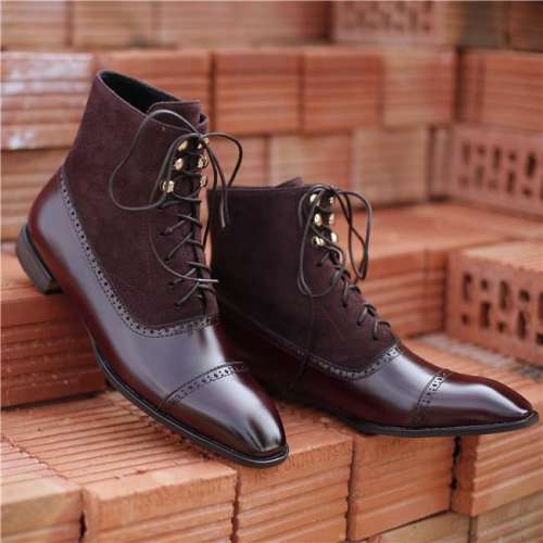 Men's Vintage Leather Mid Boots