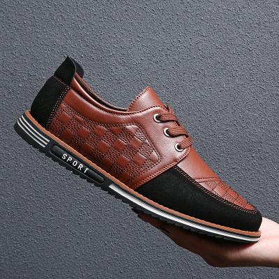 Men Microfiber Leather Splicing Non Slip Soft Sole Casual Shoes
