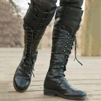 Men's Black Studded Rider Boots