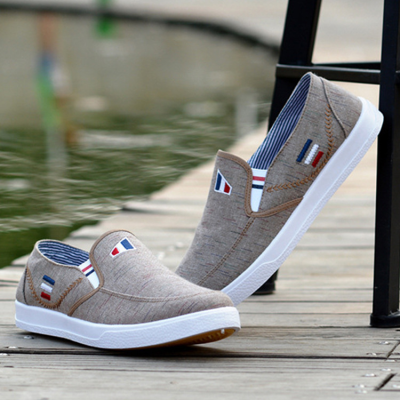 Casual Slip on Round Toe Canvas Shoes