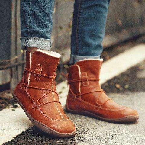 Flat Heel Boots