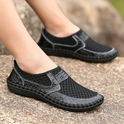 Men's Oversize Mesh Flats Casual titching Soft Comfortable Loafers Shoes