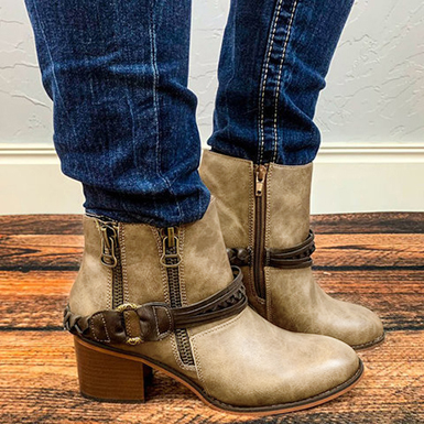 Women's Multiple Zip Booties