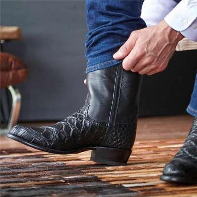 Men's Alligator Skin Cowboy Boots - American Gator Boot