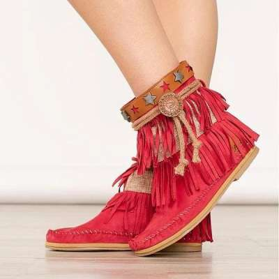 Suede Tassel Daily Boots
