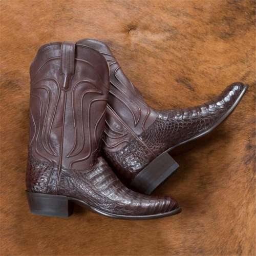 Men's Caiman Belly Cowboy Boots - Crocodile Skin Boot