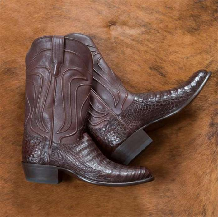 Men's Caiman Belly Cowboy Boots - Crocodile Skin Boot