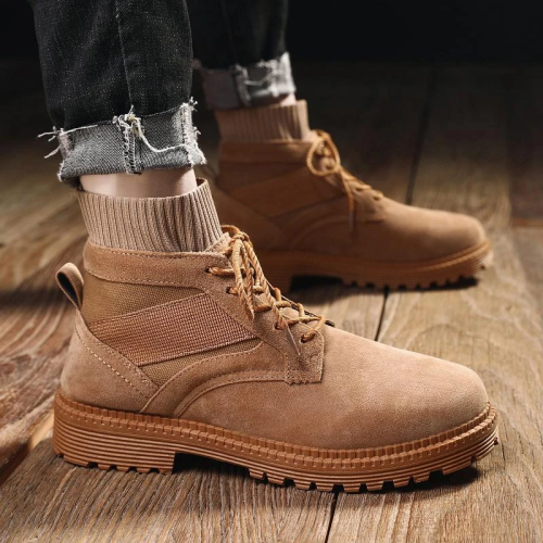 Men's Retro Mid Cut Socks Shoes Tooling Military Boots
