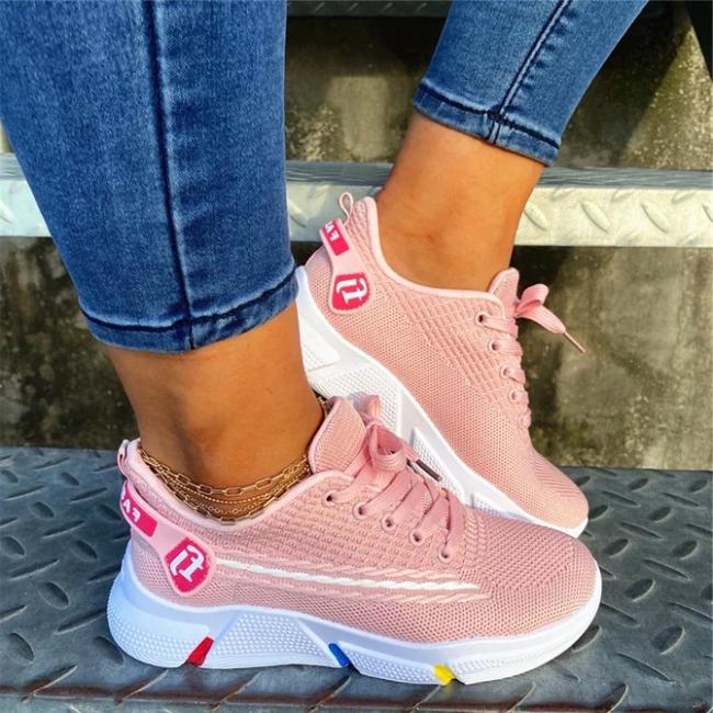 Flat Heel All Season Fabric sneakers