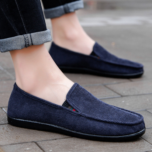 Men Old Peking Style Cloth Slip On Soft Casual Loafers