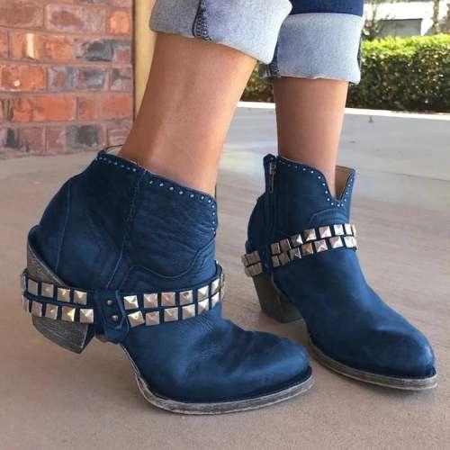 All Season Chunky Heel Boots