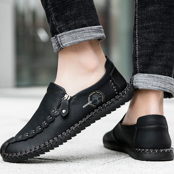 Men's Hand-stitched Pattern Flat Shoes