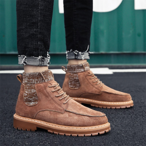 Men's Korean Version Of The Tide Fashion Retro Socks Boots